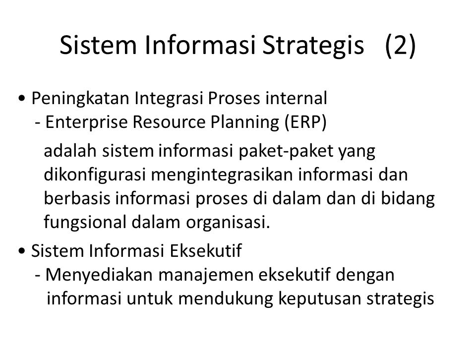 Sistem Informasi Strategis (2)