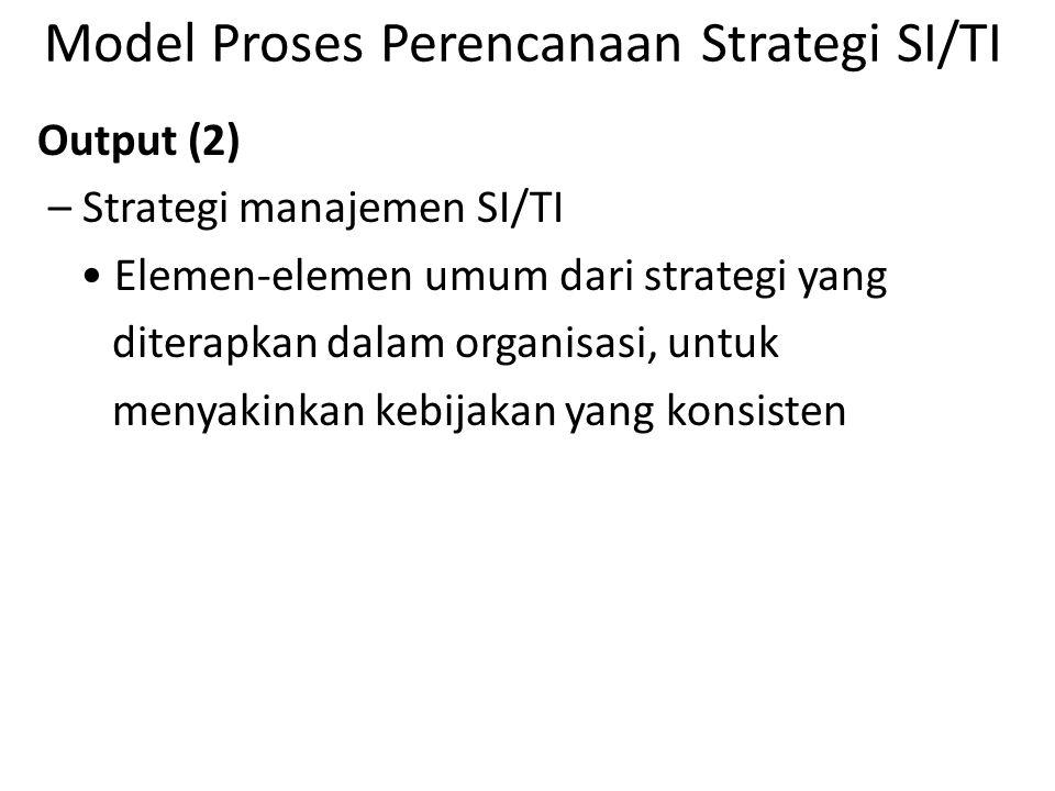 Model Proses Perencanaan Strategi SI/TI