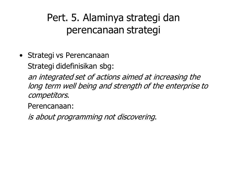 Pert. 5. Alaminya strategi dan perencanaan strategi