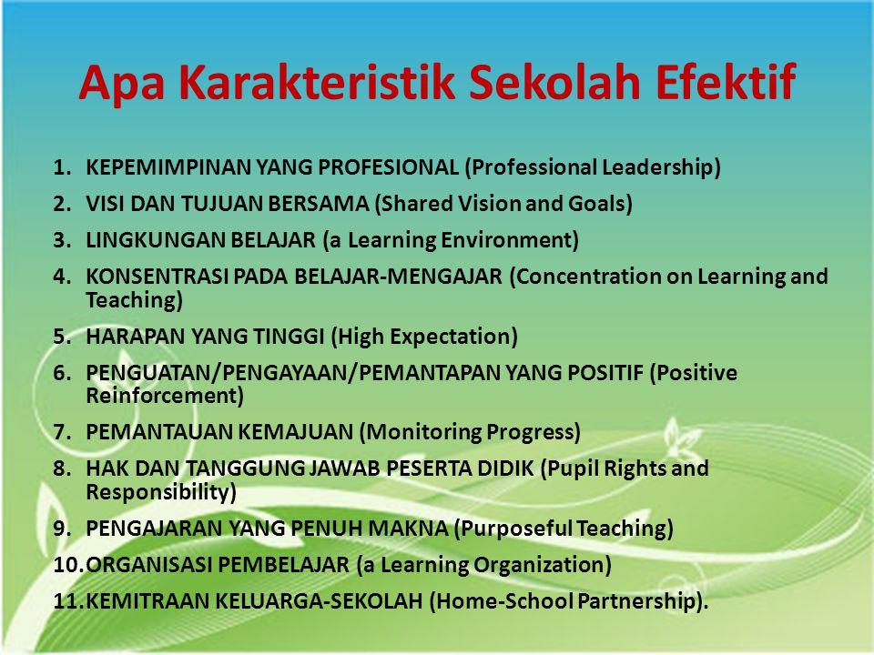 Apa Karakteristik Sekolah Efektif
