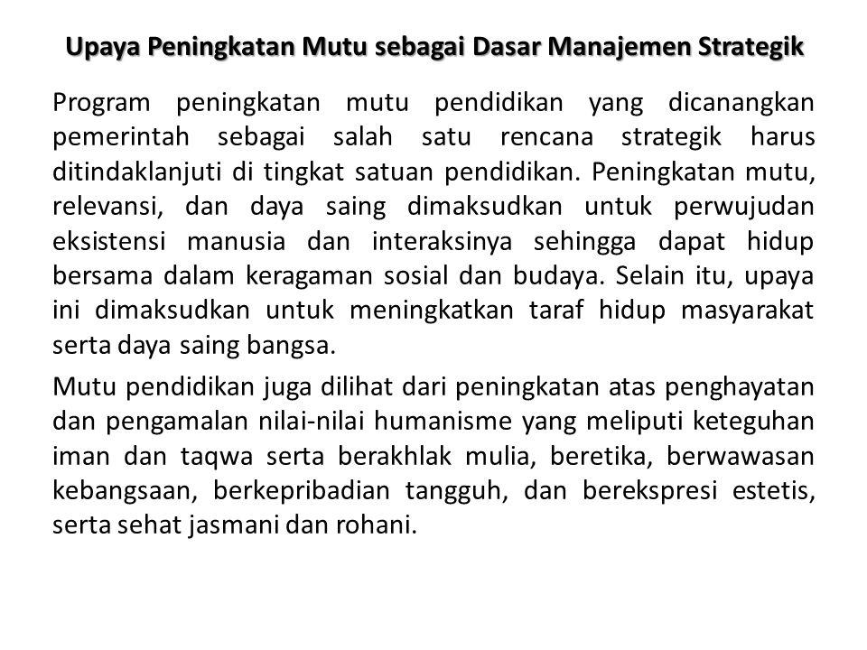 Upaya Peningkatan Mutu sebagai Dasar Manajemen Strategik