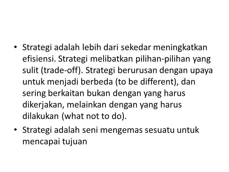 Strategi adalah lebih dari sekedar meningkatkan efisiensi