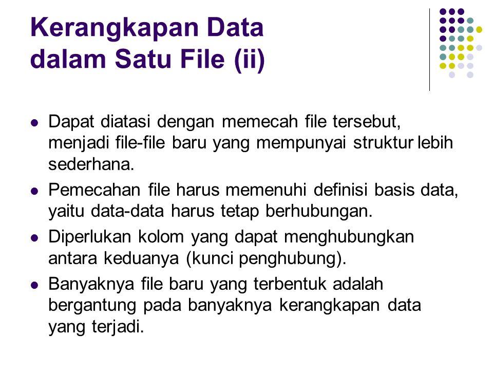 Kerangkapan Data dalam Satu File (ii)