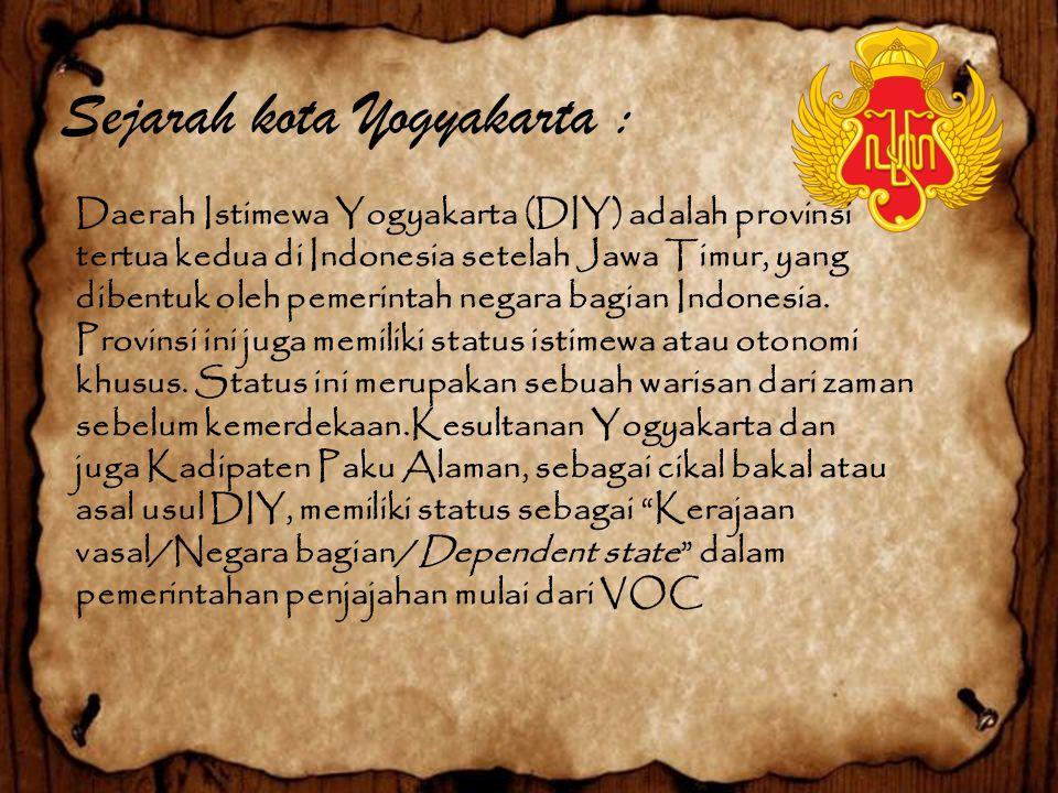 Sejarah kota Yogyakarta :