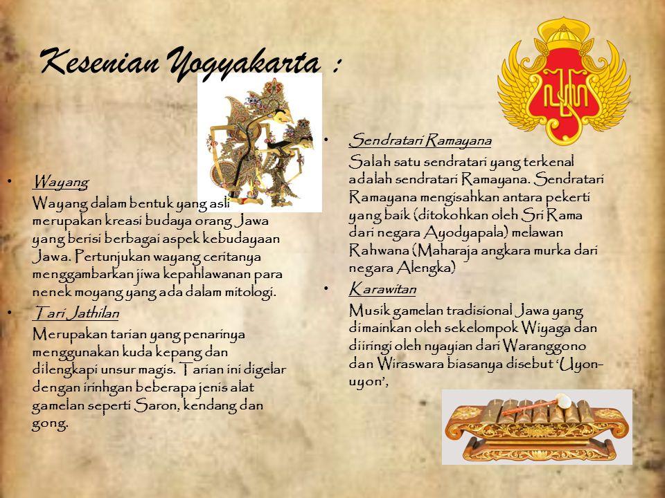 Kesenian Yogyakarta : Sendratari Ramayana