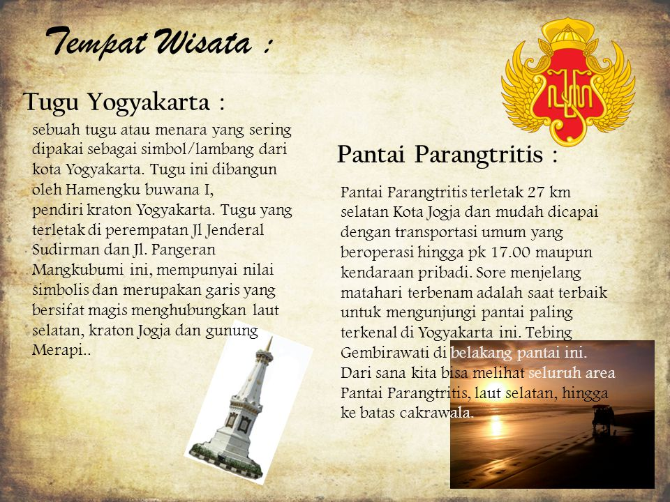 Tempat Wisata : Tugu Yogyakarta : Pantai Parangtritis :