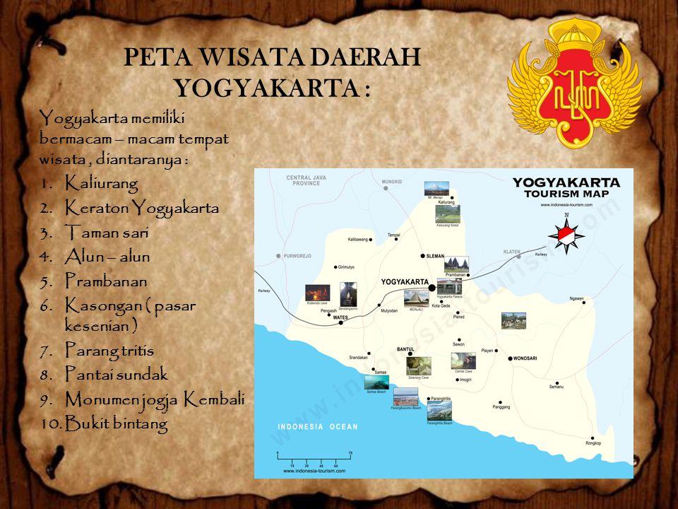 PETA WISATA DAERAH YOGYAKARTA :