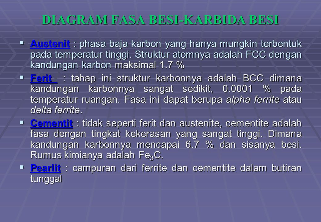 DIAGRAM FASA BESI-KARBIDA BESI
