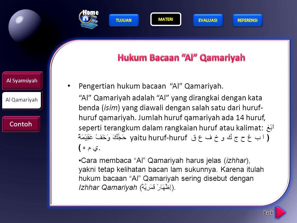 Hukum Bacaan Al Qamariyah