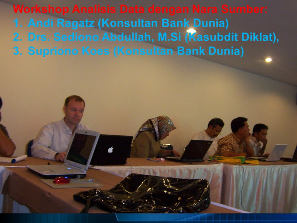 Workshop Analisis Data dengan Nara Sumber: