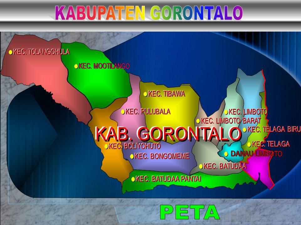 KABUPATEN GORONTALO PETA KAB. GORONTALO KEC. TOLANGOHULA