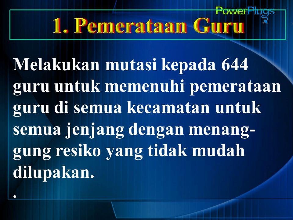 1. Pemerataan Guru