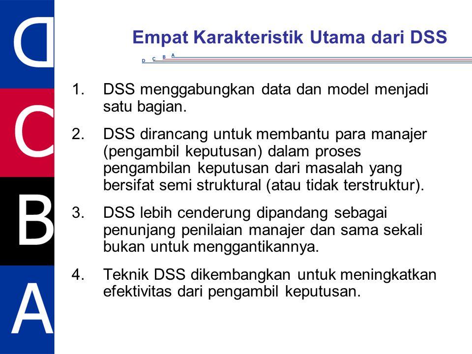 Empat Karakteristik Utama dari DSS