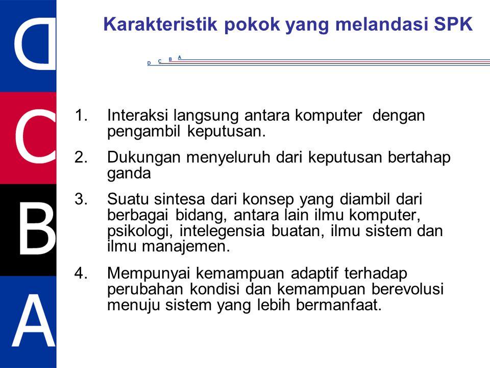 Karakteristik pokok yang melandasi SPK