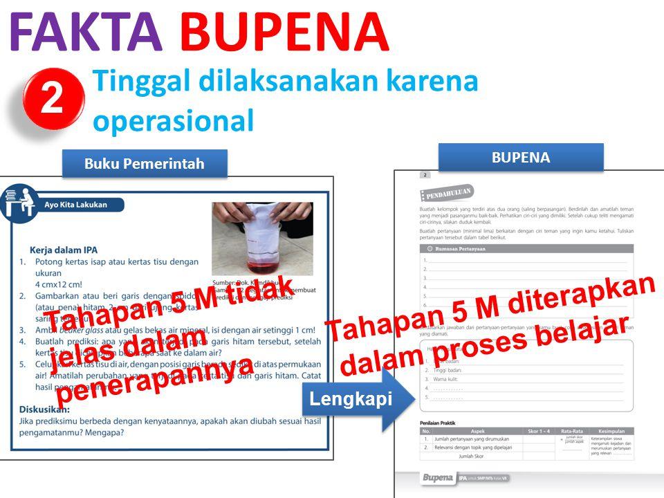 FAKTA BUPENA 2 Tinggal dilaksanakan karena operasional