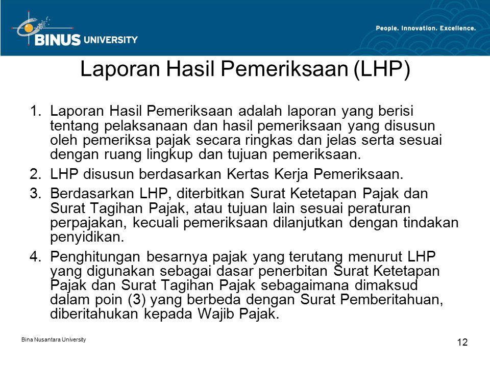 Laporan Hasil Pemeriksaan (LHP)