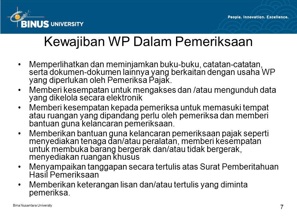 Kewajiban WP Dalam Pemeriksaan