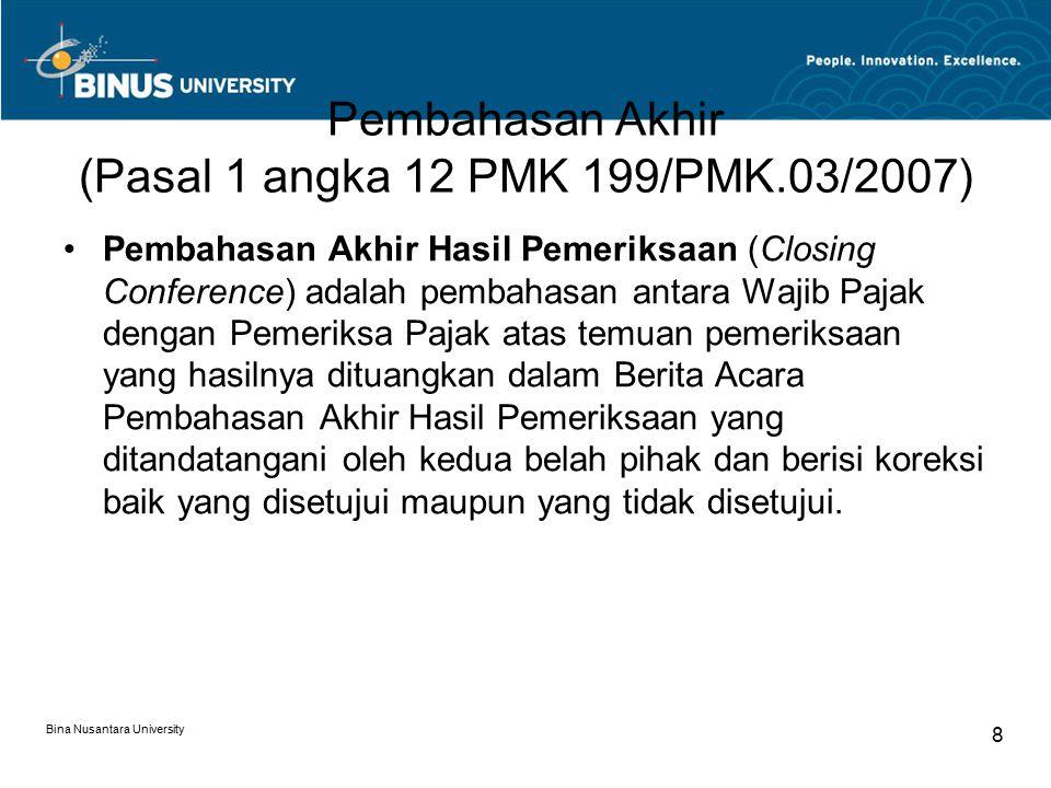 Pembahasan Akhir (Pasal 1 angka 12 PMK 199/PMK.03/2007)