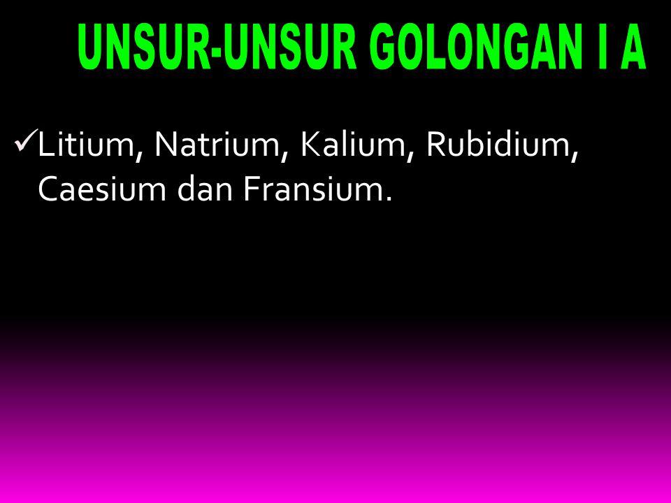 UNSUR-UNSUR GOLONGAN I A