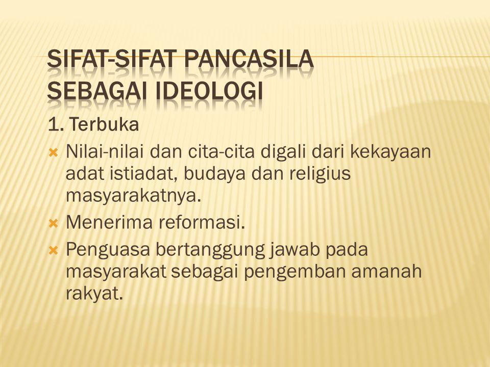 Sifat-sifat Pancasila Sebagai Ideologi