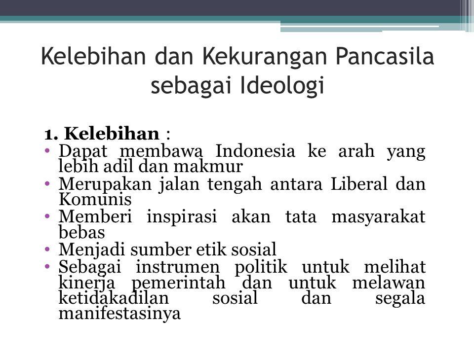 Kelebihan dan Kekurangan Pancasila sebagai Ideologi