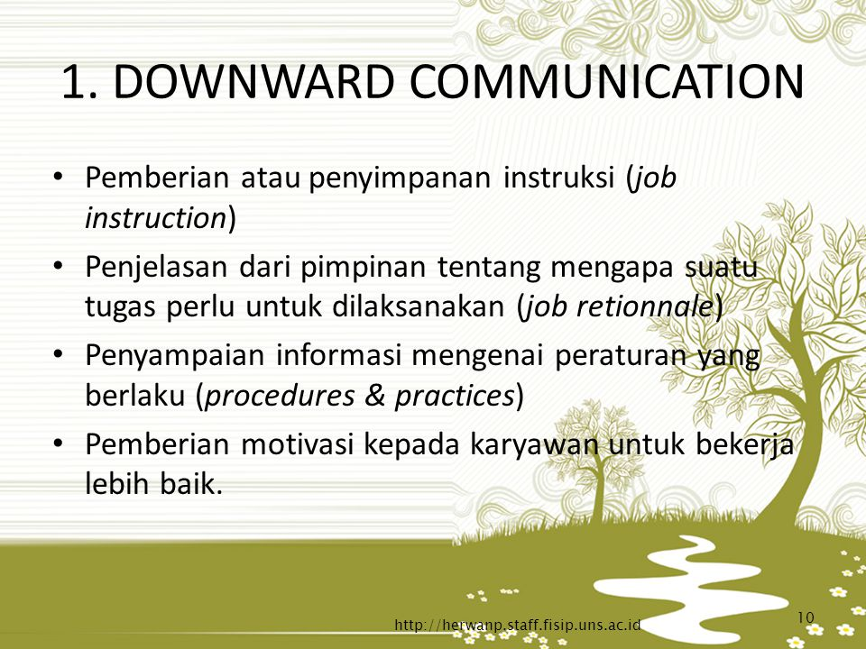 1. DOWNWARD COMMUNICATION