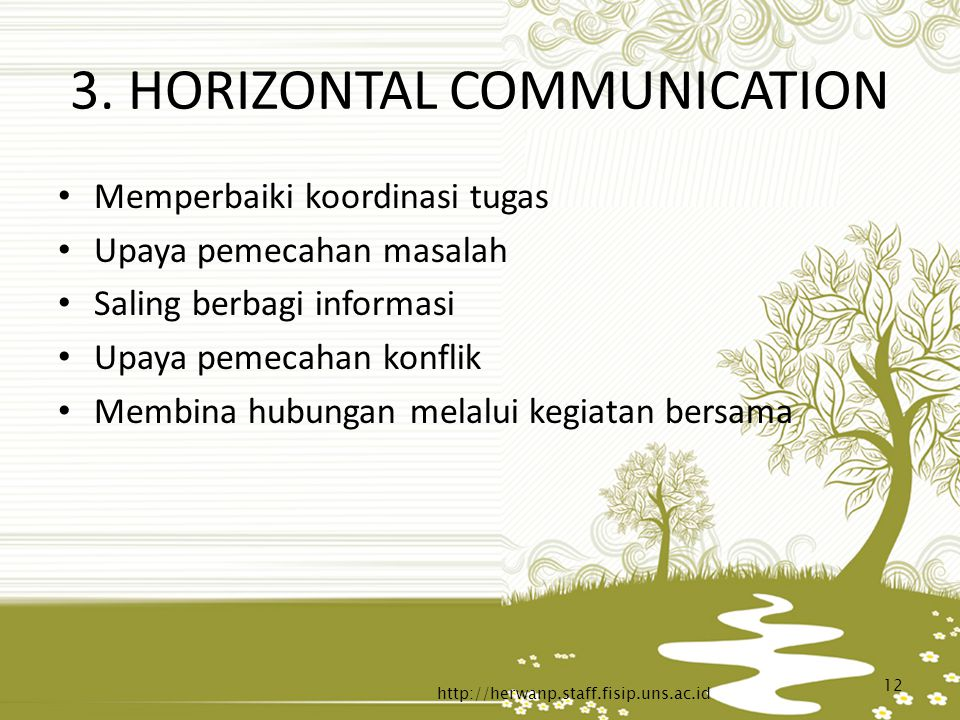 3. HORIZONTAL COMMUNICATION