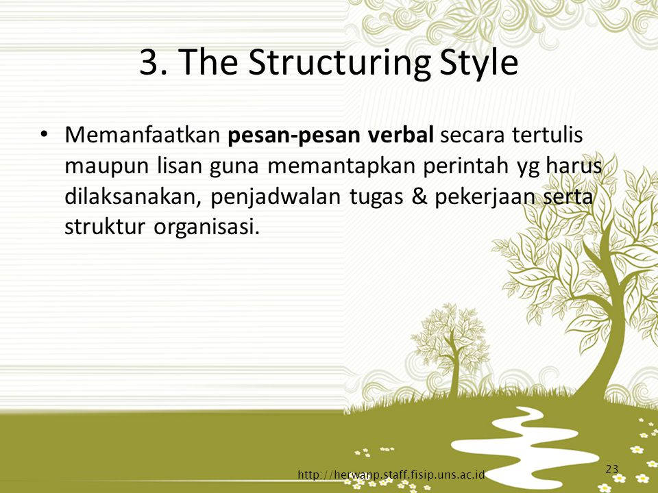 3. The Structuring Style
