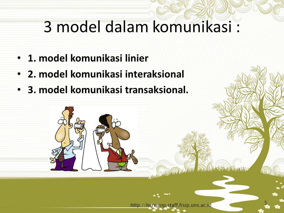 3 model dalam komunikasi :