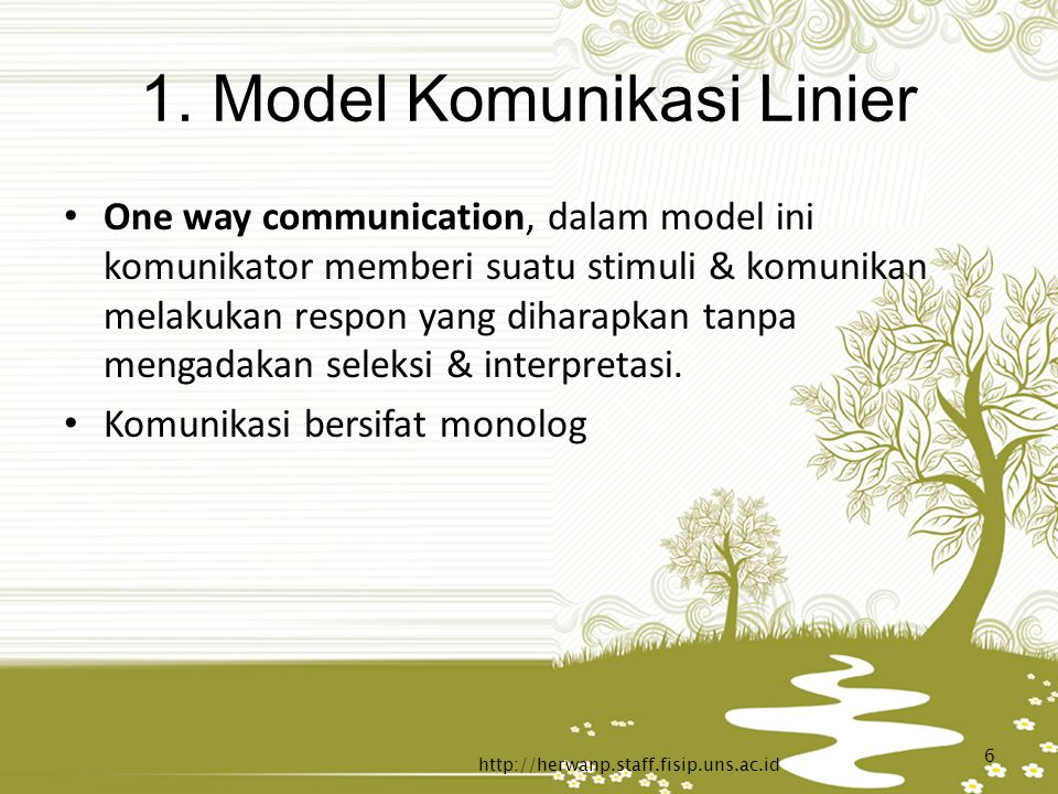 1. Model Komunikasi Linier