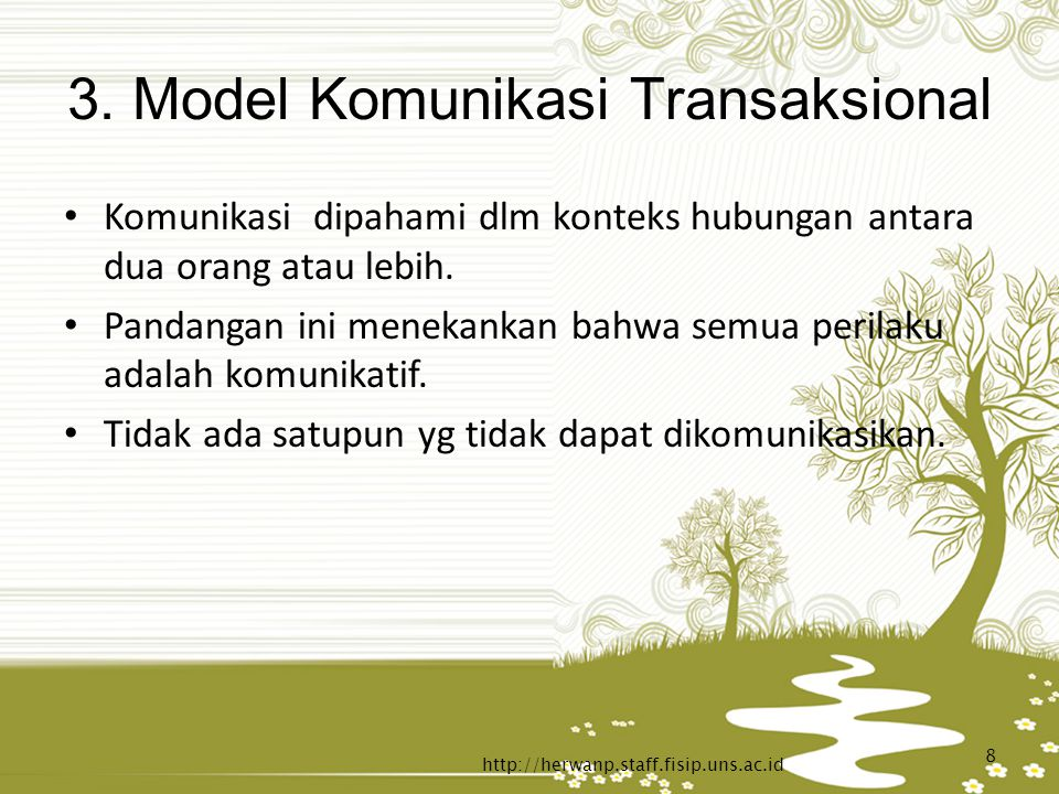 3. Model Komunikasi Transaksional