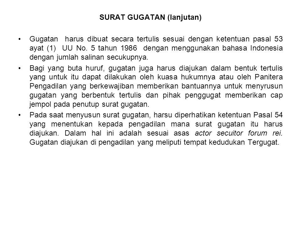 SURAT GUGATAN (lanjutan)