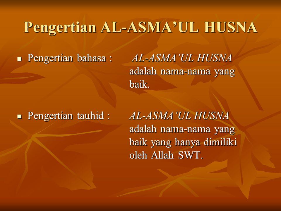 Pengertian AL-ASMA'UL HUSNA