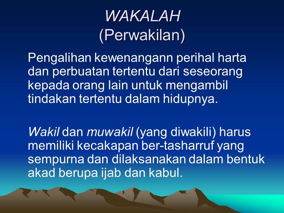 WAKALAH (Perwakilan)