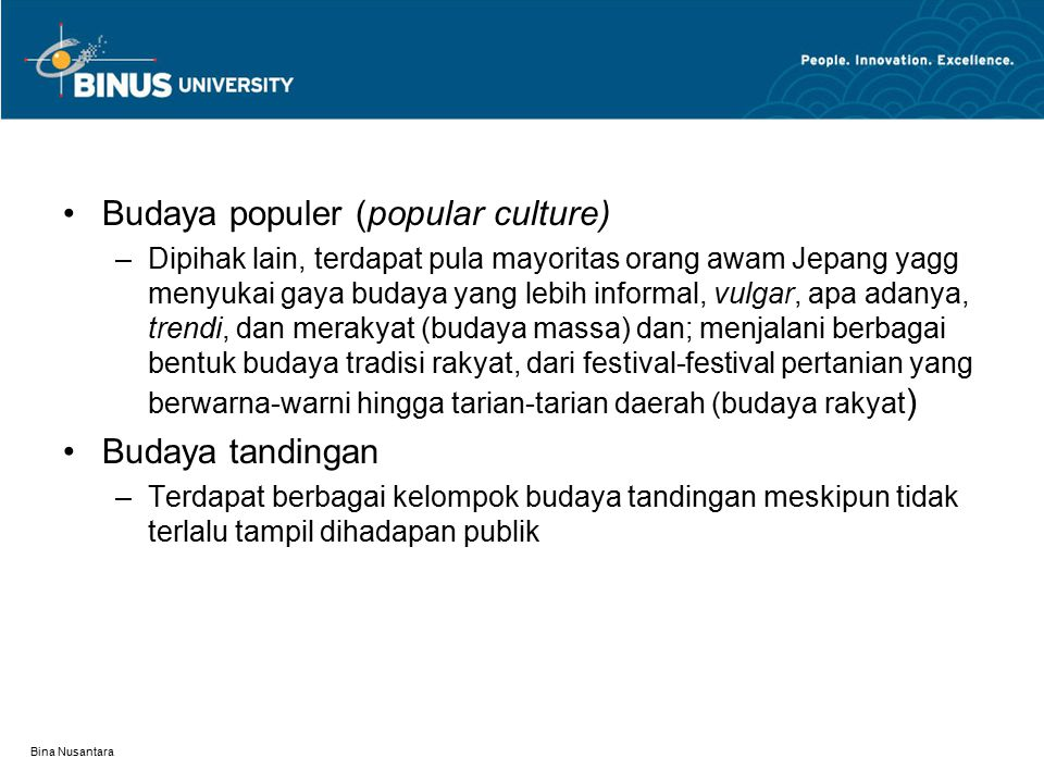 Budaya populer (popular culture)