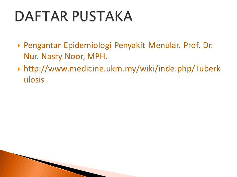 DAFTAR PUSTAKA Pengantar Epidemiologi Penyakit Menular.