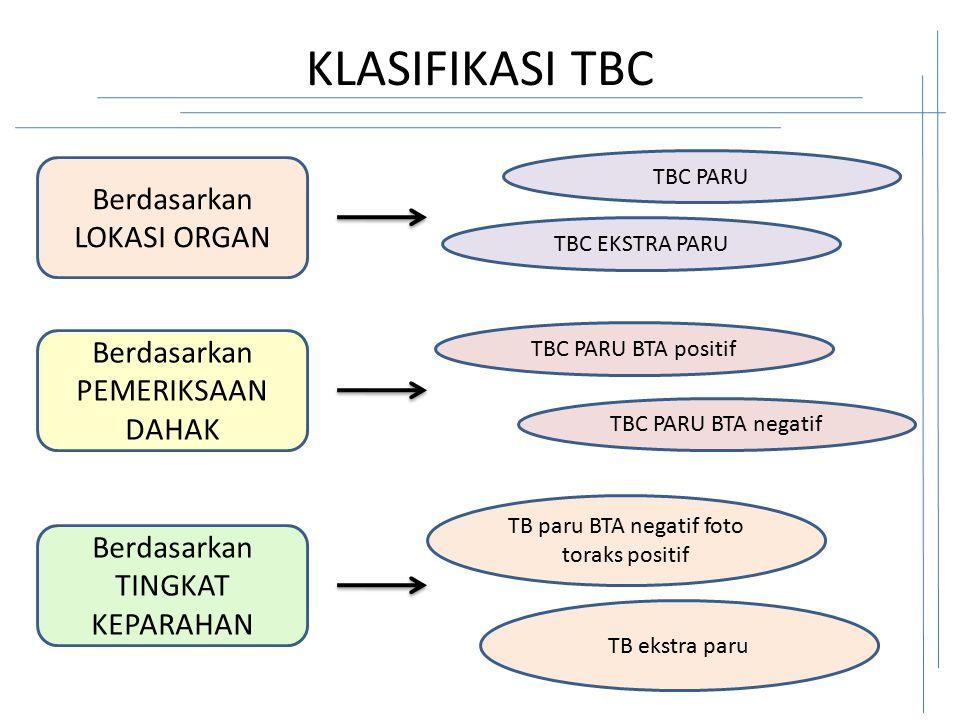 TB paru BTA negatif foto toraks positif