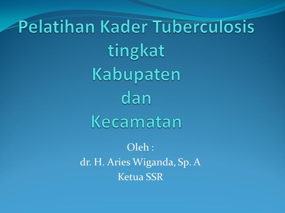 Pelatihan Kader Tuberculosis tingkat Kabupaten dan Kecamatan