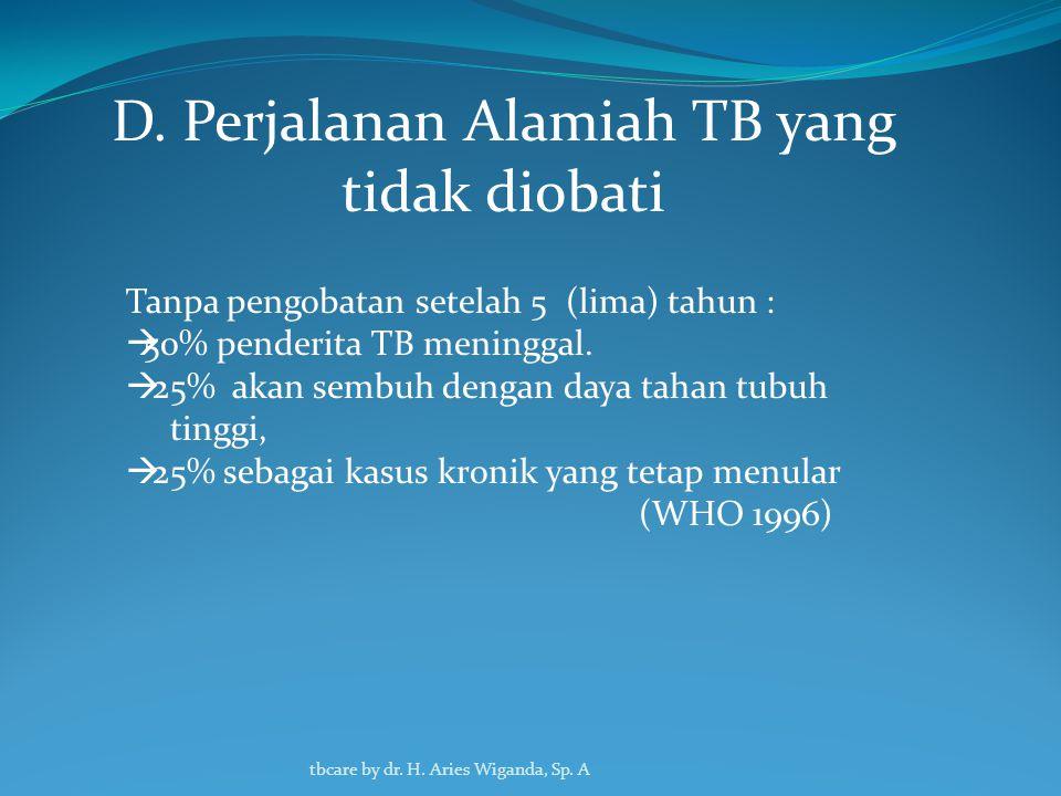 D. Perjalanan Alamiah TB yang tidak diobati