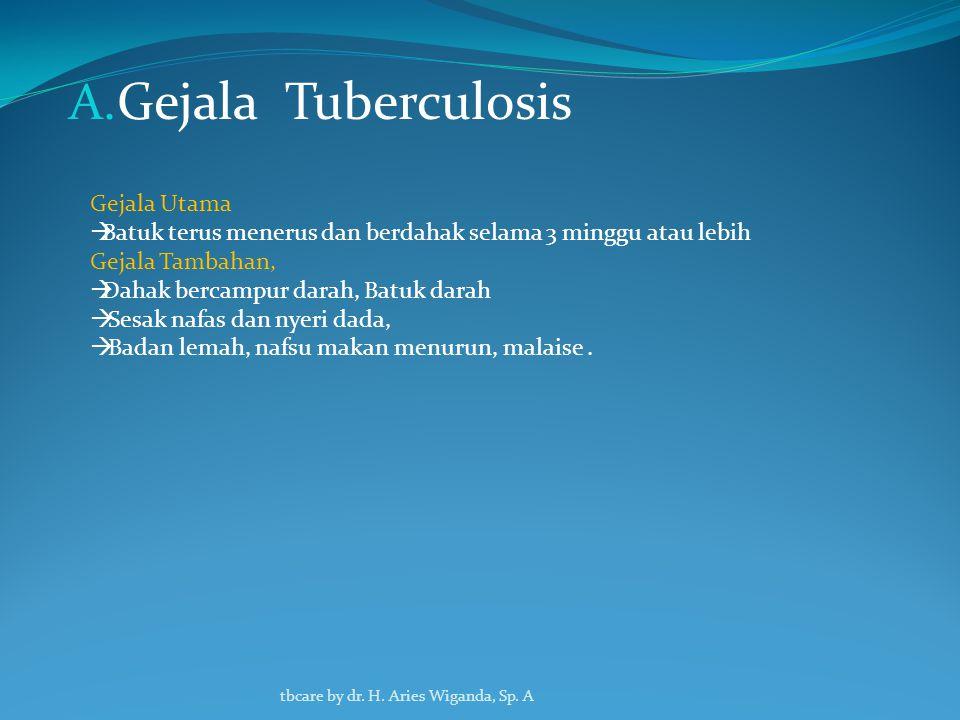 Gejala Tuberculosis Gejala Utama