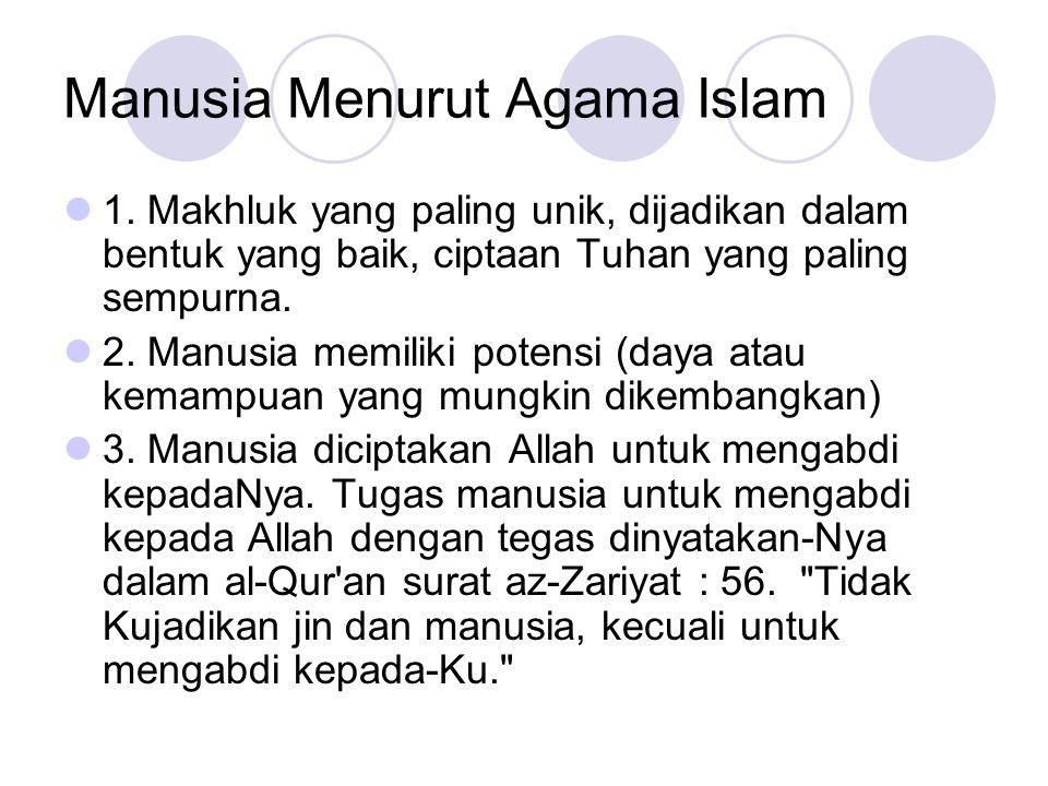 Manusia Menurut Agama Islam