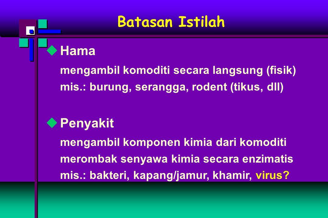 Batasan Istilah Hama mengambil komoditi secara langsung (fisik)