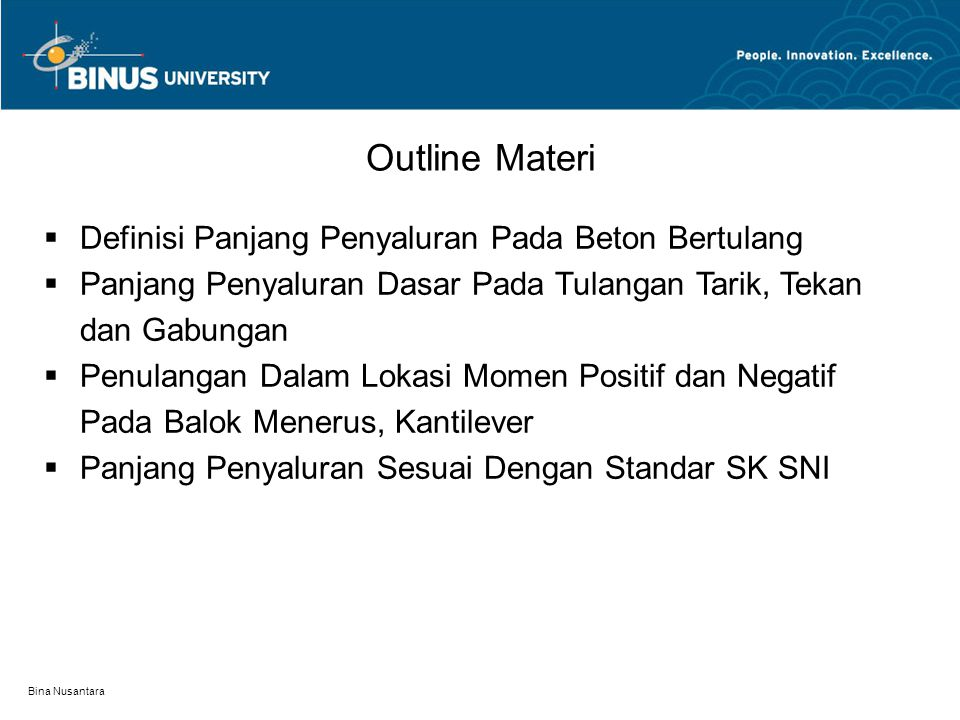 Outline Materi Definisi Panjang Penyaluran Pada Beton Bertulang