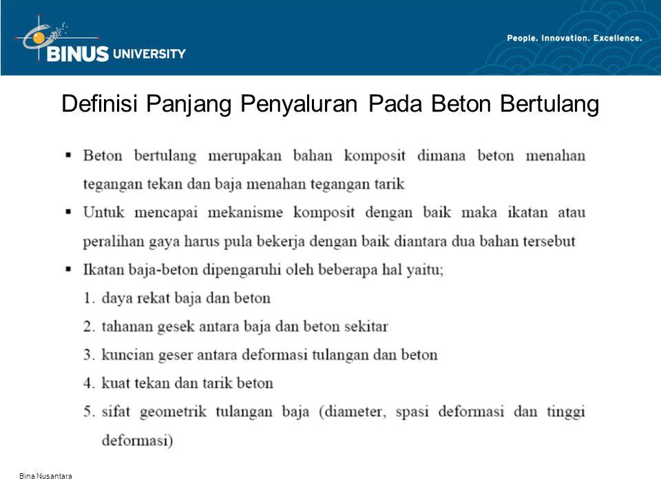 Definisi Panjang Penyaluran Pada Beton Bertulang