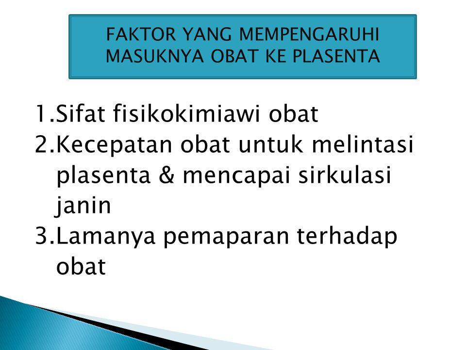 Faktor yang mempengaruhi masuknya obat ke plasenta