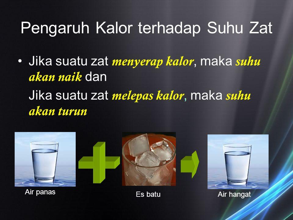 Pengaruh Kalor terhadap Suhu Zat