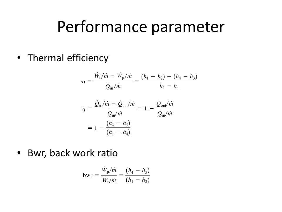 Performance parameter