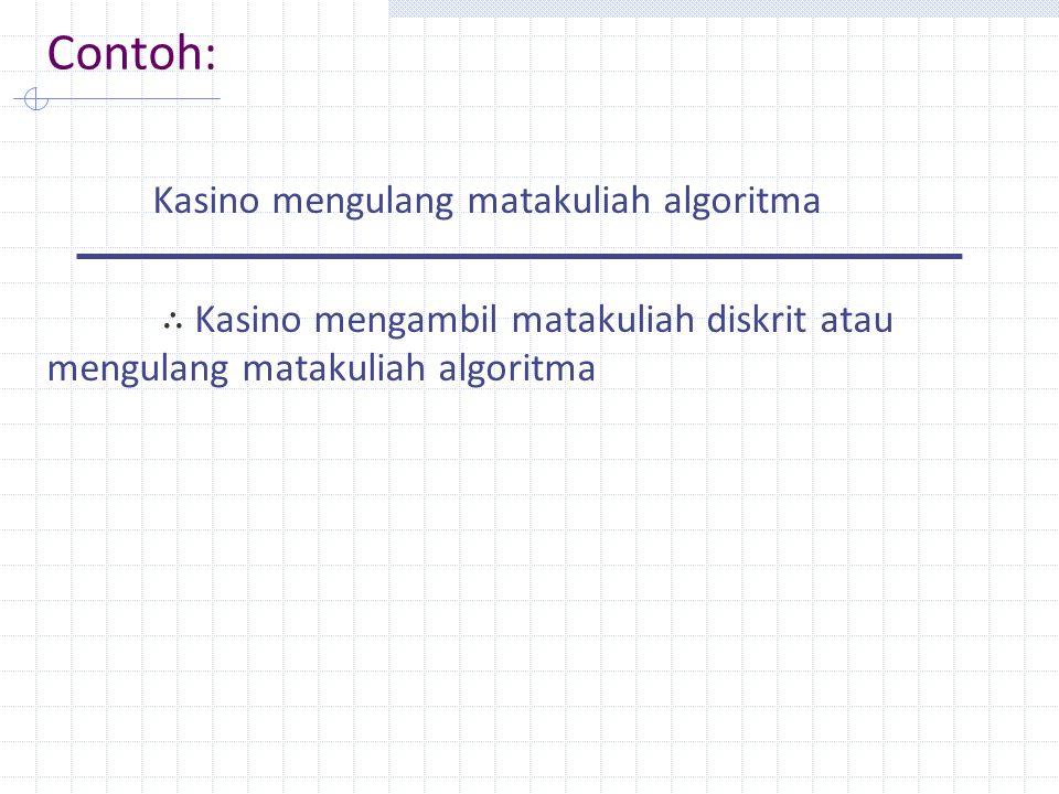 Contoh: Kasino mengulang matakuliah algoritma