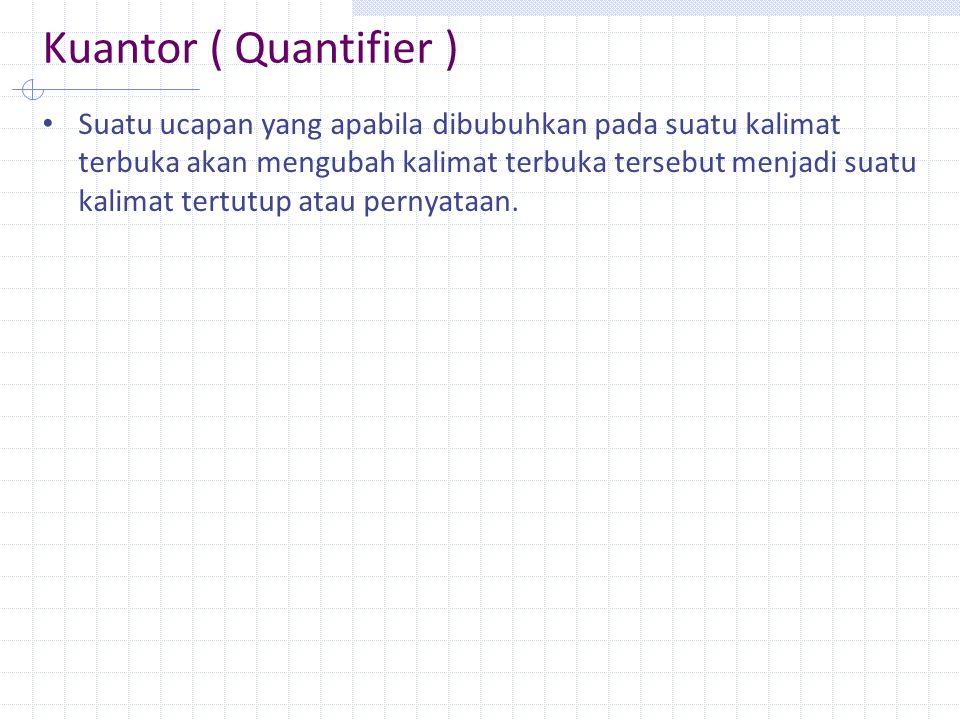 Kuantor ( Quantifier )
