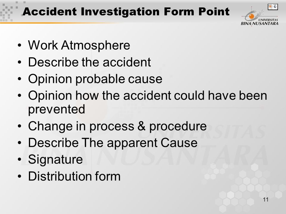 Accident Investigation Form Point